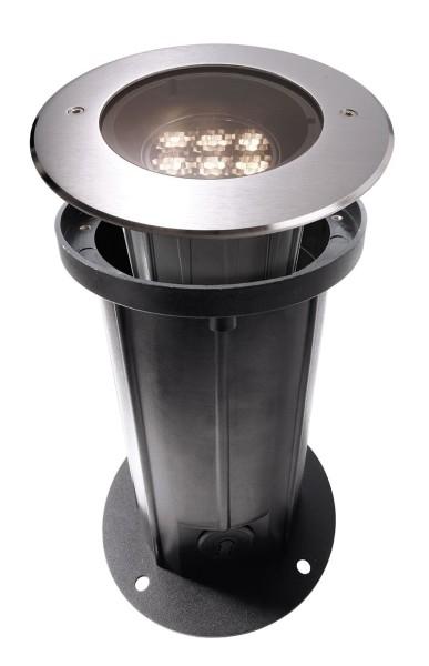 Deko-Light Bodeneinbauleuchte, Soft Flex 7, Edelstahl, silberfarben, Warmweiß, 17°, 7W, 230V