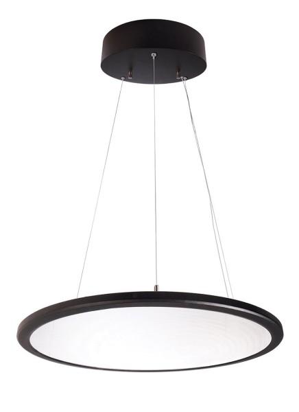 Deko-Light Pendelleuchte, LED Panel transparent rund, Aluminium, schwarz, Neutralweiß, 150°, 50W