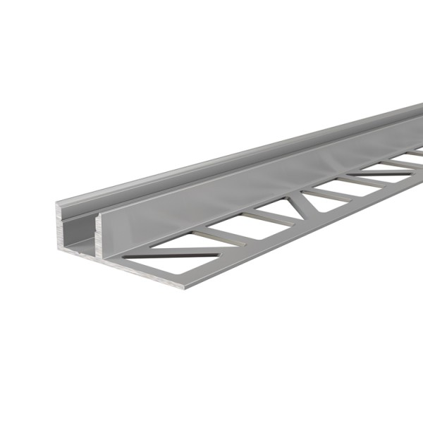 Reprofil, Fliesen-Profil EL-01-08 für LED Stripes bis 9,3 mm, Silber-matt, eloxiert, 2500 mm