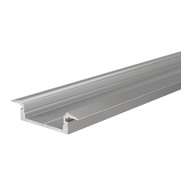 Reprofil, T-Profil flach ET-01-15 für LED Stripes bis 16,3 mm, Silber-matt, eloxiert, 2000 mm