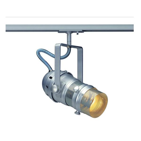 PAR MESH 20 Strahler, silbergrau, E27, max. 75W, inkl. 1P.-Adapter