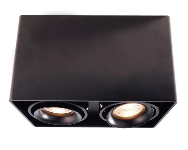 Deko-Light Deckenaufbauleuchte, Mona II, Aluminium Druckguss, schwarz, 50W, 230V, 186x93mm