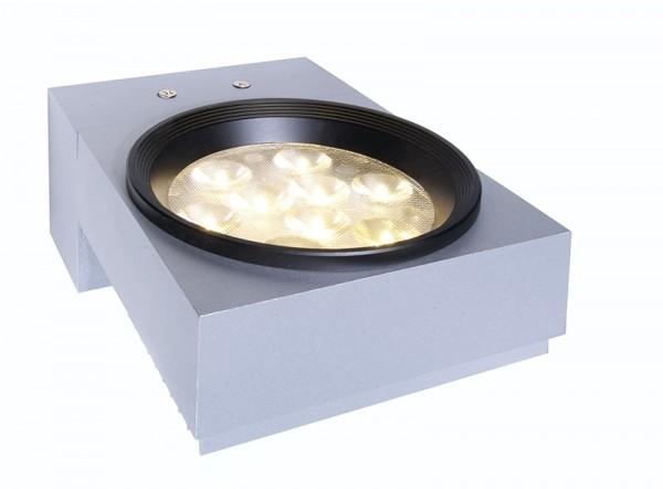 LED-Wandlampe Pared 9 x 1 Watt LED, silber