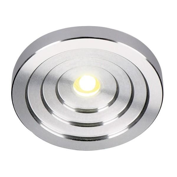 LED KONKAV, Einbauleuchte, LED, 3000K, rund, aluminium gebürstet, 1W