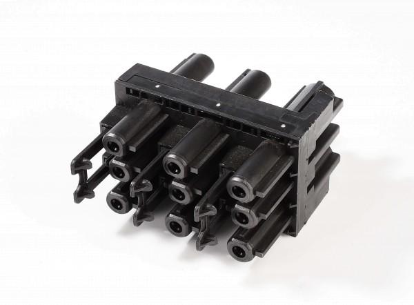 Zubehör, Wieland GST18i3 Verteilerblock, 1 Eingang, 5 Ausgänge, Kunststoff, Schwarz, 230V