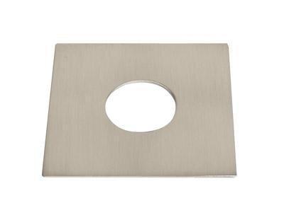 Quad Platte für Light Point metall brushed, 60 x 60 mm.