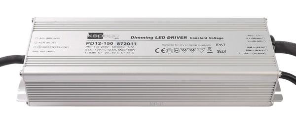 Deko-Light Netzgerät, PD12-150-1-10V, Aluminium, Silber, 150W, 12V, 12500mA, 223x70mm