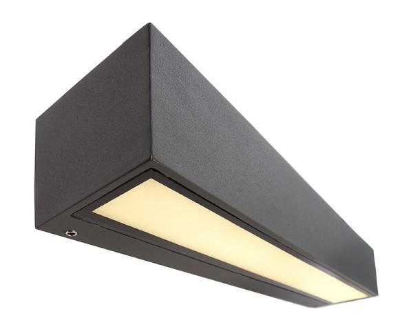 Deko-Light Wandaufbauleuchte, Linear I Single, Aluminium Druckguss, dunkelgrau, Warmweiß, 110°, 9W