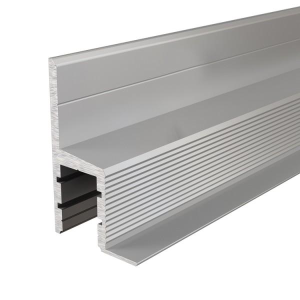 Reprofil, Trockenbau-Profil, Deckenvoute EL-03-10 für LED Stripes bis 11,3 mm, Silber-matt, 2500 mm