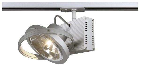 TEC 1, Spot für Hochvolt-Stromschiene 1Phasen, einflammig, QR111, silbergrau, max. 50W