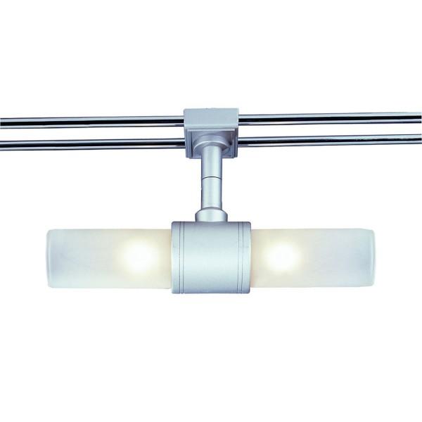 LIGHT TUBE Leuchte für WAVE, silbergrau, satiniertes Glas, 2xG4, max. 2x20W