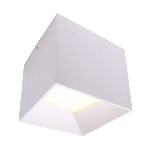 Deko-Light Deckenaufbauleuchte, Sky LED, Aluminium, weiß, Warmweiß, 90°, 10W, 230V, 105x105mm