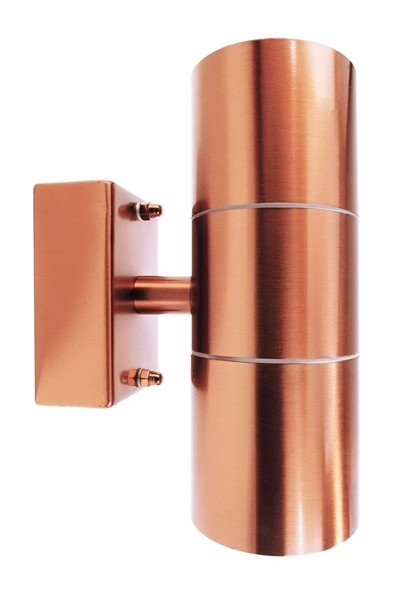 Kapego Wandaufbauleuchte, Zilly Up & Down, exklusive Leuchtmittel, spannungskonstant, GU10, Kupfer