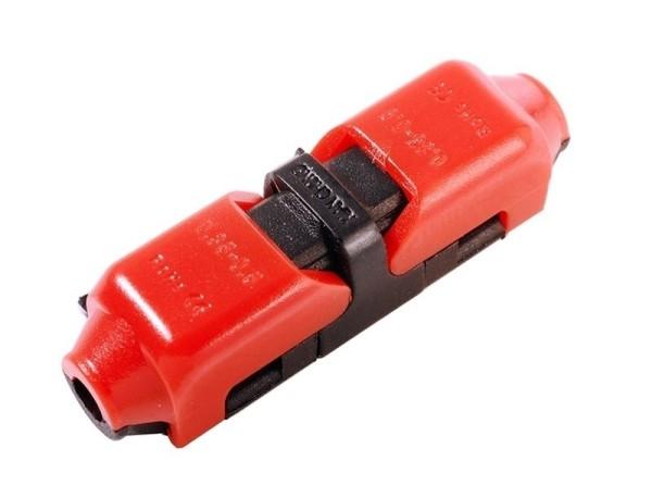 Deko-Light Zubehör, Kabelverbinder 1-polig, Polycarbonat, Schwarz, 0A, 25x7mm