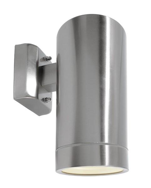 Deko-Light Wandaufbauleuchte, Zilly IV Down, Edelstahl, silberfarben, 18W, 230V, 10x160mm