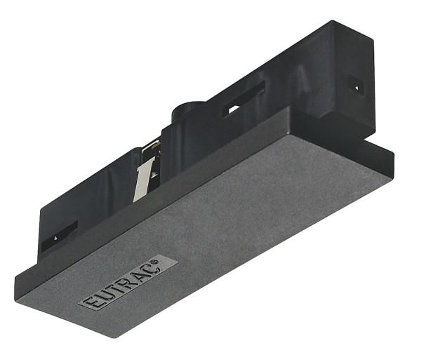 MITTELEINSPEISER, für EUTRAC Hochvolt 3Phasen-Aufbauschiene, schwarz