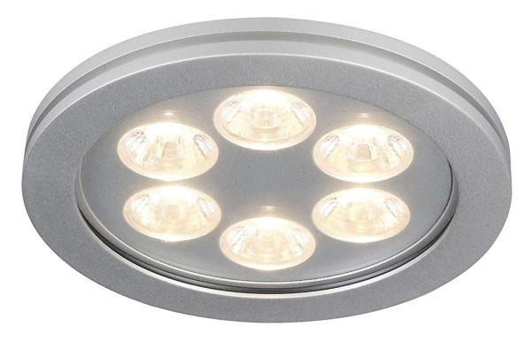 EYEDOWN 5, Einbauleuchte, sechsflammig, LED, 3000K, IP44, rund, aluminium, 6W