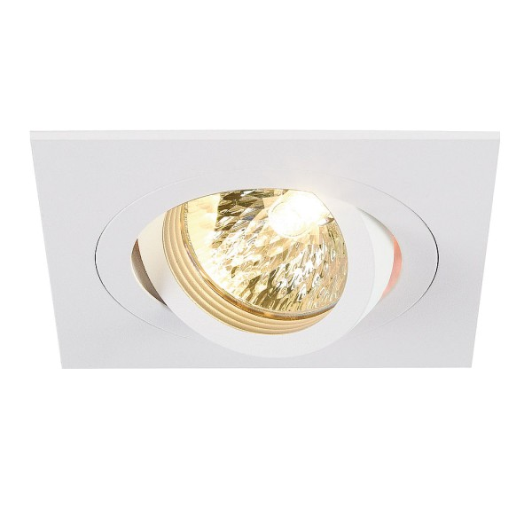 NEW TRIA I MR16 Downlight, eckig, mattweiss, max. 50W, inkl. Clipfedern