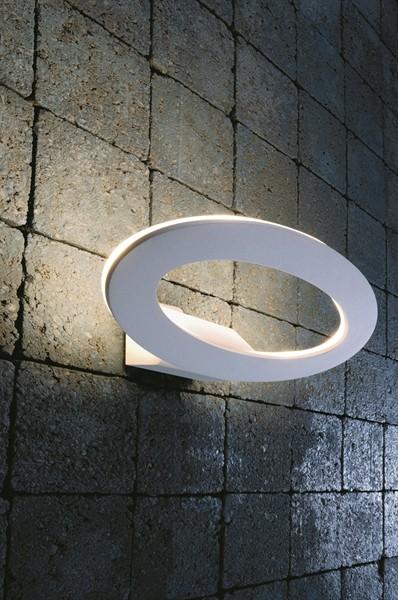 KapegoLED Wandaufbauleuchte, Oval II, inklusive Leuchtmittel, Warmweiß, 220-240V AC/50-60Hz, 7,00 W,