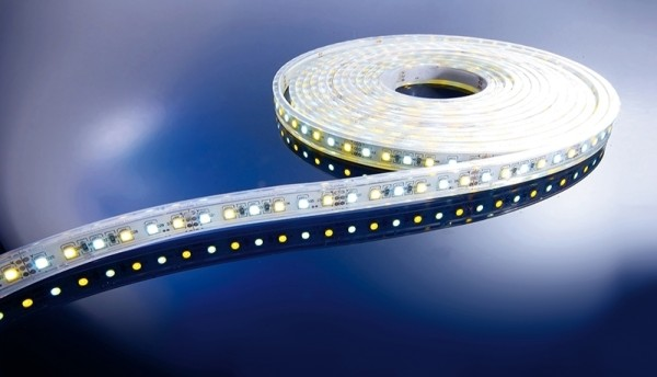 Flexibler LED Stripe IP65, 12V, 5 m Rolle, CW - WW