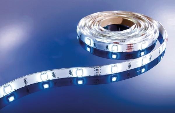 Flexibler LED Stripe IP 33, 12V, 5 m Rolle, weiß
