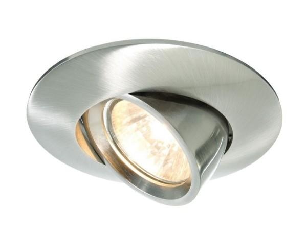 Deko-Light Deckeneinbauring, Aluminium Druckguss, silberfarben gebürstet, 50W, 12V