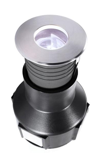 KapegoLED Bodeneinbauleuchte, Easy Round III CWA nicht dimmbar, inklusive Leuchtmittel, asymmetrisch