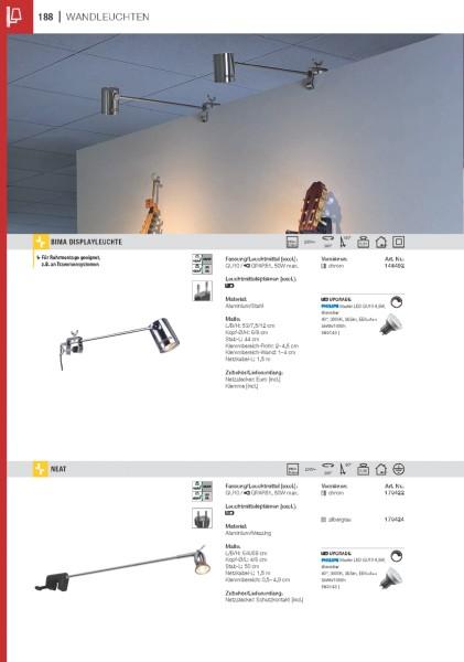 LAMPENHALTER SCHWENKBAR für APOLLO, silbergrau, MR16, max. 35W, 2Stk.