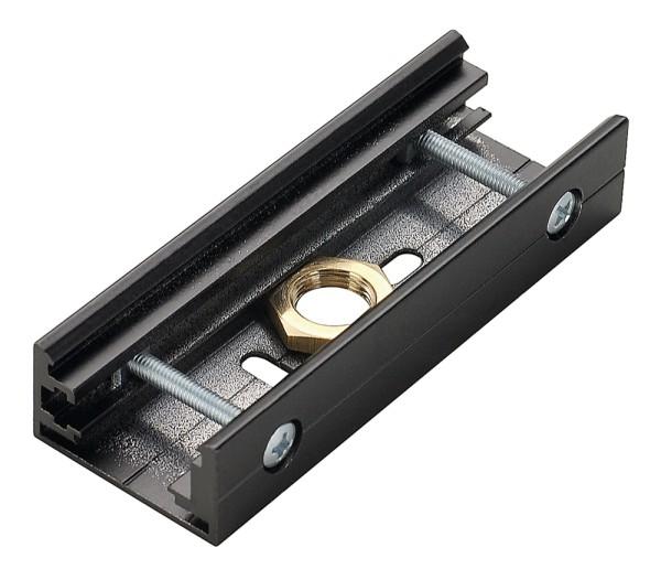 STOSSSTELLENVERBINDER, für EUTRAC Hochvolt 3Phasen-Aufbauschiene, M13-Gewinde, schwarz