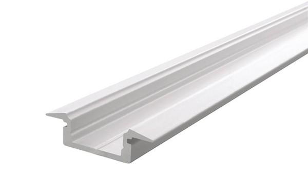 Reprofil Profil, T-Profil flach ET-01-10, Aluminium, Weiß-matt, 2000mm