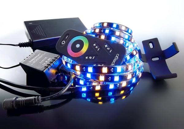 Deko-Light LED Mixit Set, RF 5050-240-RGB+2700K-4,0m, Kupfer, Schwarz, RGB + Warmweiß, 120°, 50W