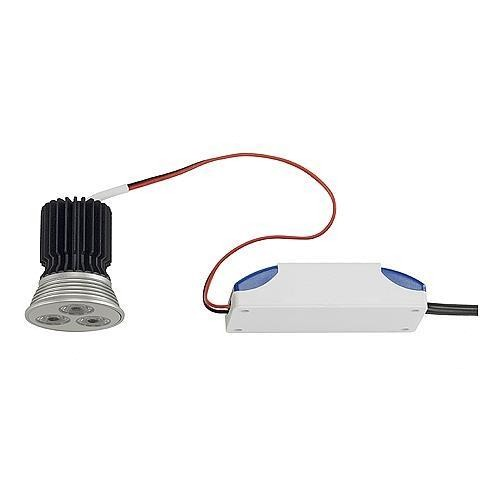 LED-RELAMPING-KIT, MR16 3x3W mit 700mA Treiber, LED weiss, 15°