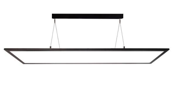 Deko-Light Pendelleuchte, LED Panel transparent, Aluminium, schwarz, Neutralweiß, 155°, 50W, 230V