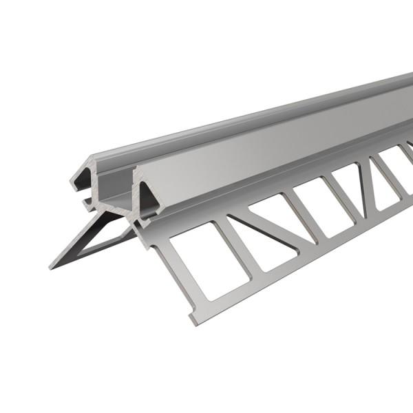 Reprofil, Fliesen-Profil Ecke außen EV-02-08 für LED Stripes bis 9,3 mm, Silber-matt, eloxiert
