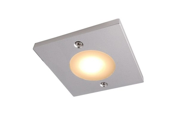 Deko-Light Möbelaufbauleuchte, Fine I, Aluminium, silberfarben matt, Warmweiß, 115°, 3W, 12V