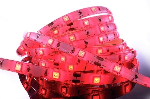 Flexibler LED Stripe IP 33, 12V, 5 m Rolle, rot