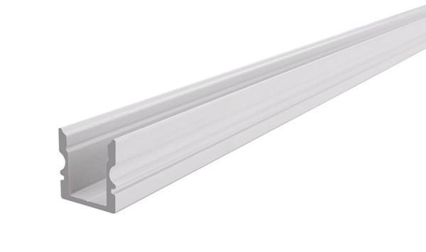 Reprofil Profil, U-Profil hoch AU-02-08, Aluminium, Weiß-matt, 2000mm