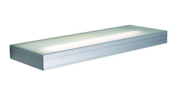 Wandleuchte Shelf, 13 Watt alu-eloxiert, mit Ein/Aus Schalter, 230V, T5, 13W, inkl. Leuchtmittel, in