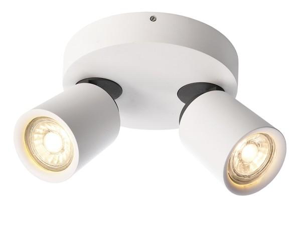 Deko-Light Deckenaufbauleuchte, Librae Round II, Aluminium, weiß matt, 50W, 230V