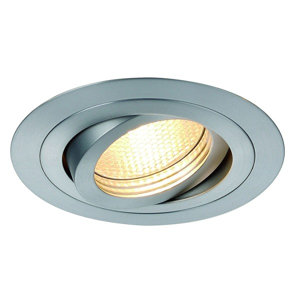 NEW TRIA GX10 Downlight, rund, alu brushed, max. 35W