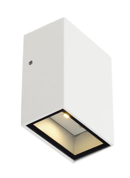 QUAD 1, Wandleuchte, LED, 3000K, IP44, eckig, weiß, 4,6