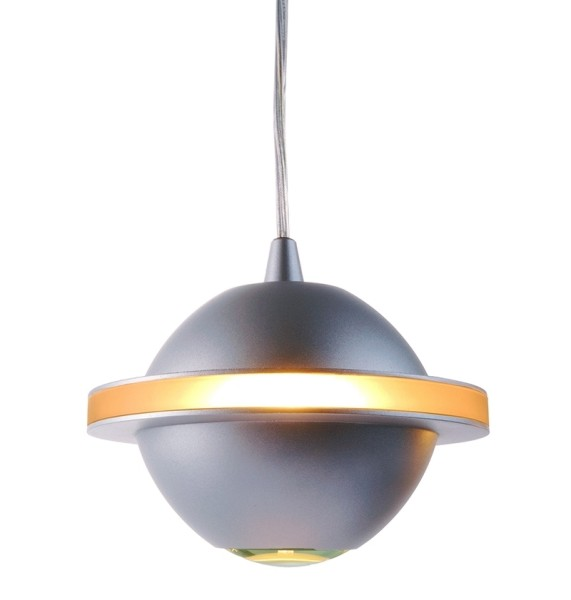 One HV-System, Pendelleuchte UFO, Glas weiß