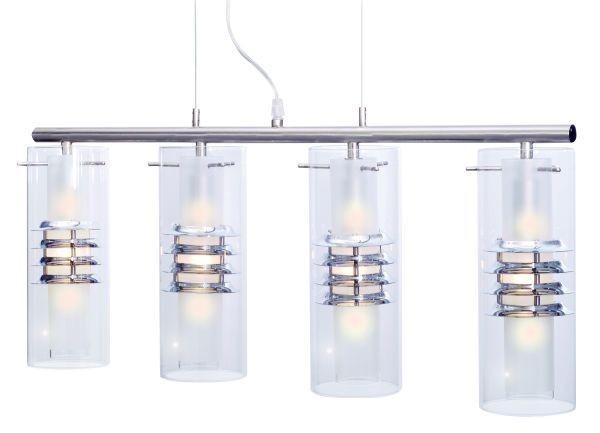 Hängeleuchteleuchte Borrada, chrom, Glas satiniert, 4x E14, max. 40 Watt, exkl. Leuchtmittel