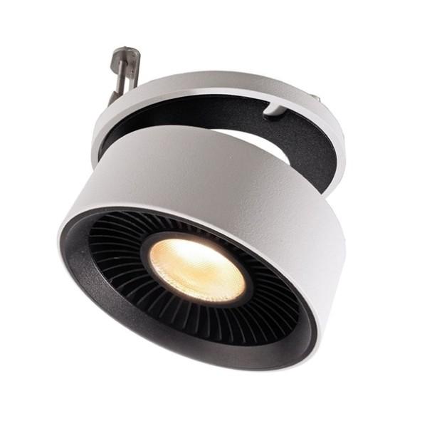KapegoLED Deckeneinbauleuchte, Black & White III, inklusive Leuchtmittel, Weiß, Warmweiß, 26,00 W
