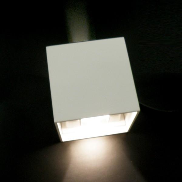 LED Wandleuchte, up/down, 3000K, 6W, eckig, weiß, IP65, inkl. LED-Treiber