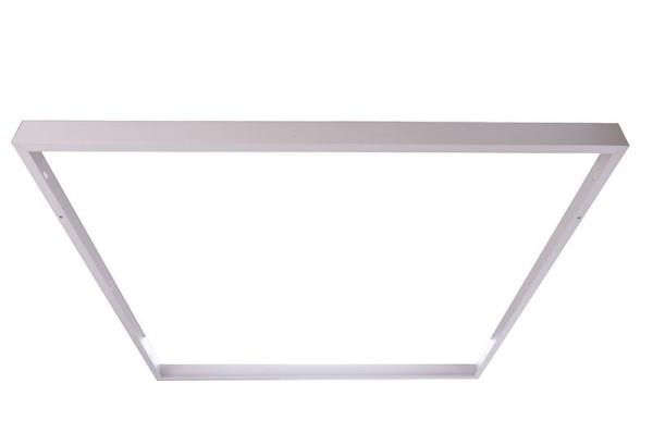 Deko-Light Zubehör, Aufbaurahmen, Metall, Weiß, 620x620mm