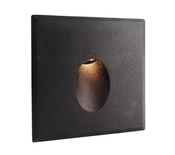 Deko-Light Zubehör, Abdeckung schwarz rund für Light Base COB Indoor, Aluminium, Schwarz, 85x85mm