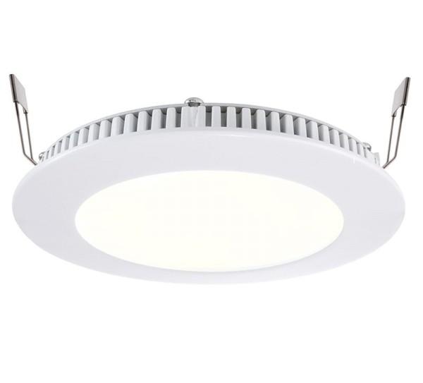 Deko-Light Deckeneinbauleuchte, LED Panel 8, Aluminium Druckguss, weiß, Warmweiß, 115°, 7W, 17-18V
