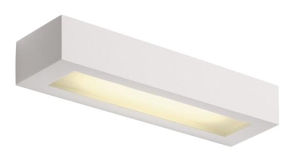 PLASTRA 103, Wandleuchte, C35, eckig, weißer Gips, max. 8 W