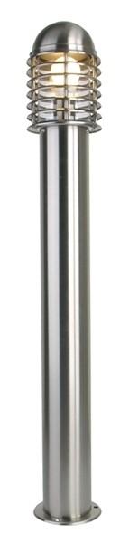 Kapego Stehleuchte, Hoover, exklusive Leuchtmittel, Silber, 220-240V AC/50-60Hz, Anzahl Sockel: 1
